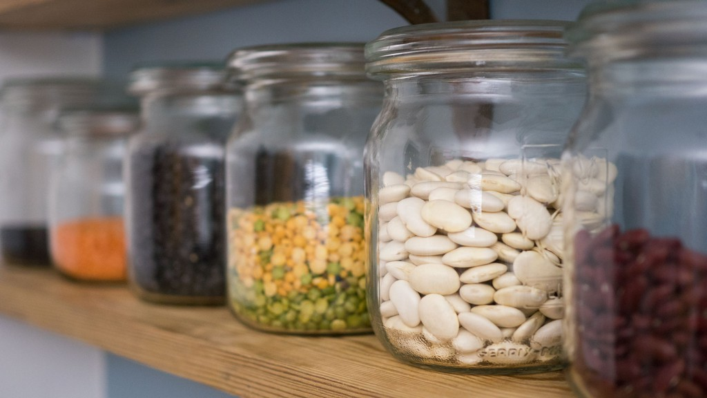 Jars full of beans and lentils